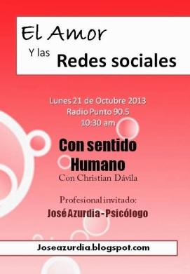 """""""El amor y las redes sociales"""" por Radio Punto en el programa """"Con sentido humano"""" de Christian Dávila"""