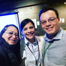 En el congreso de psicólogos 2016 junto a Lucía Cazali