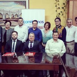Firma de convenio Mercy Corps - Escuela de Ciencias Psicológicas